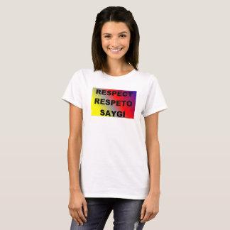 Camiseta T-shirt do respeito do espanhol/turco