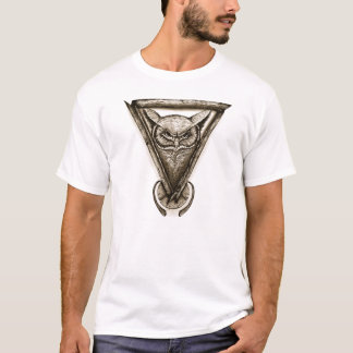 Camiseta T-shirt do retrato da coruja, ilustração abstrata