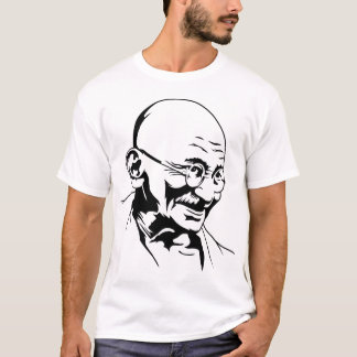 Camiseta T-shirt do retrato de Mahatma Gandhi