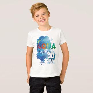 Camiseta T-shirt do robô do Aqua do miúdo