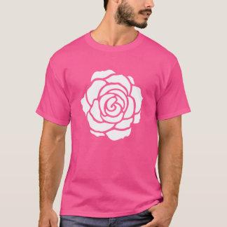 Camiseta T-shirt do rosa branco
