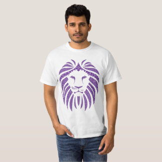 Camiseta T-shirt do roxo da bolha do leão