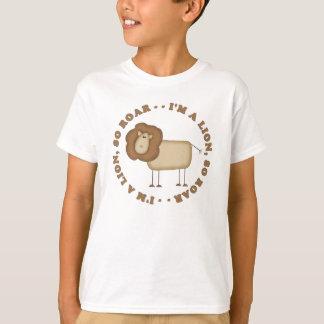 Camiseta T-shirt do rugido do leão