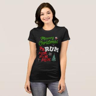 Camiseta T-shirt do rum do rum do Pa do Feliz Natal