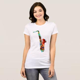 Camiseta T-shirt do saxofone ...............