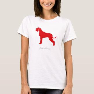 Camiseta T-shirt do Schnauzer gigante (versão natural