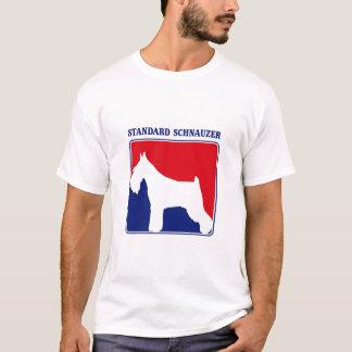 Camiseta T-shirt do Schnauzer padrão de liga principal