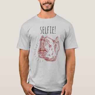 Camiseta T-shirt do Selfie dos homens: Tapir de sorriso