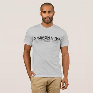 Camiseta T-shirt do senso comum (para a luz BG)