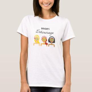 Camiseta T-shirt do séquito da noiva dos termas