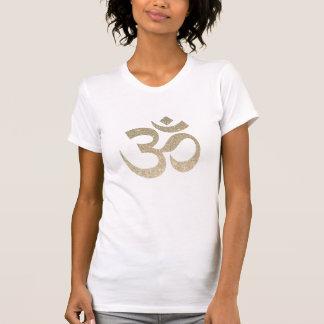 Camiseta T-shirt do símbolo de OM do brilho
