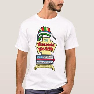 Camiseta T-shirt do sinal da praia de Pensacola