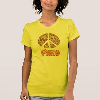 Camiseta T-shirt do sinal de paz da torta de Apple da parte