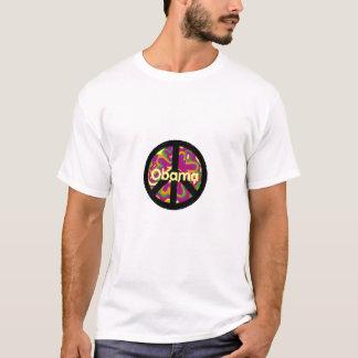 Camiseta T-shirt do sinal de PAZ de OBAMA