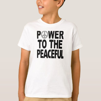 "Camiseta T-shirt do sinal de paz - ""poder ao calmo """