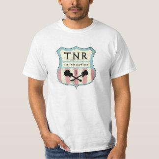 Camiseta T-shirt do sinal de rua de TNR (espuma, creme &