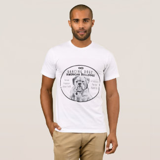 Camiseta T-shirt do Slobber do buldogue de Dogz da dança