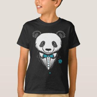Camiseta T-shirt do smoking da panda com laço do Aqua