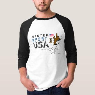 Camiseta T-shirt do Snowboard do cão da equipe dos EUA do