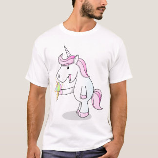 Camiseta T-shirt do sorvete do unicórnio