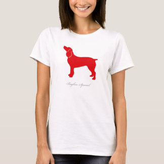 Camiseta T-shirt do Spaniel de Boykin (silhueta vermelha)
