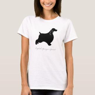 Camiseta T-shirt do Spaniel de Springer inglês (preto)