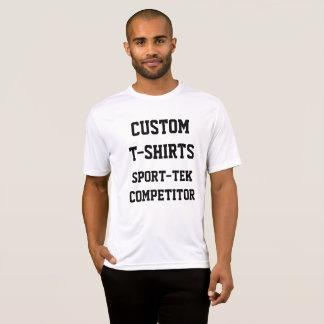 Camiseta T-SHIRT do SPORT-TEK dos homens personalizados