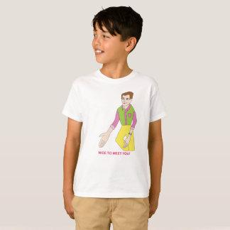 Camiseta T-shirt do Sr. Agradável Encontro Você para miúdos