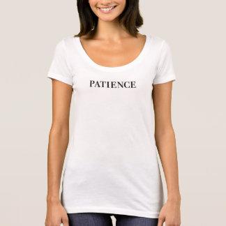 Camiseta t-shirt do subtítulo da pia batismal da paciência