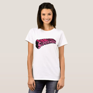 Camiseta T-shirt do Supermom - rosa