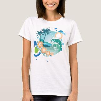 Camiseta T-shirt do surf da ilha