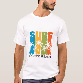 CAMISETA T-SHIRT DO SURF DA PRAIA DE VENEZA