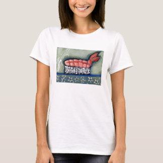 Camiseta T-shirt do sushi de Ebi do camarão por Campbell
