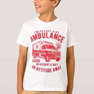 Camiseta T-shirt do TAGLESS® dos miúdos da ambulância