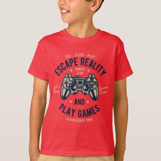 Camiseta T-shirt do TAGLESS® dos miúdos da realidade do