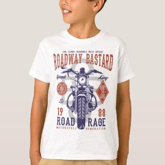 Camiseta T-shirt do TAGLESS® dos miúdos do bastardo da