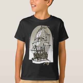 Camiseta T-shirt do TAGLESS® dos miúdos do navio