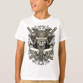 Camiseta T-shirt do TAGLESS® dos miúdos do samurai