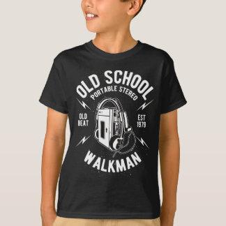 Camiseta T-shirt do TAGLESS® dos miúdos do walkman da velha