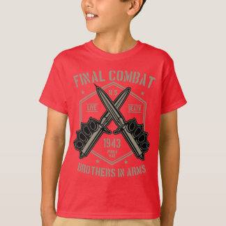 Camiseta T-shirt do TAGLESS® dos miúdos finais do combate