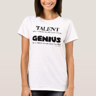 Camiseta T-shirt do talento/gênio