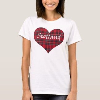 Camiseta T-shirt do Tartan do coração de Scotland