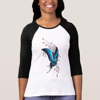 Camiseta T-shirt do tatuagem da borboleta