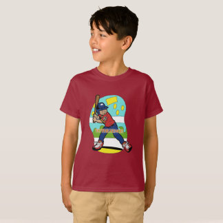 Camiseta T-shirt do tema do basebol dos meninos