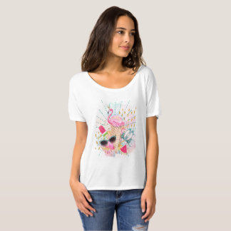 Camiseta T-shirt do tema do verão para mulheres