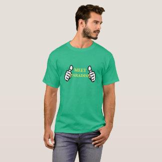 Camiseta T-shirt do tema dos polegares dos homens dois