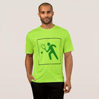 Camiseta T-shirt do tênis dos homens: Grande logotipo