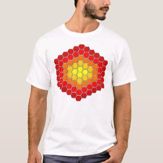 Camiseta T-shirt do teste padrão do hexágono/cubo