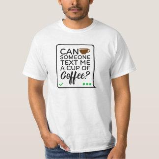 Camiseta T-shirt do texto do café