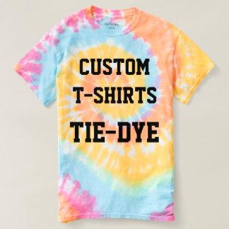 Camiseta T-SHIRT do TIE-DYE das mulheres personalizadas